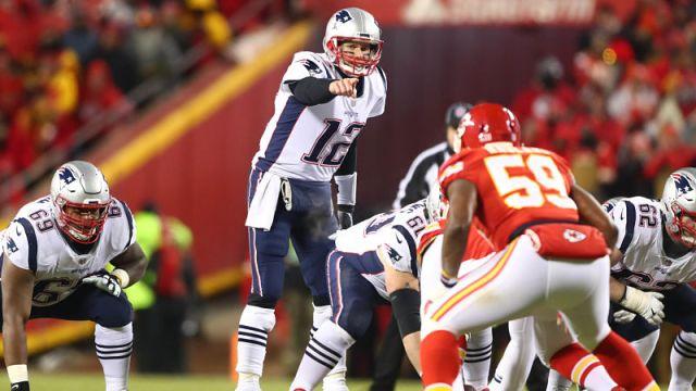 New England Patriots quarterback Tom Brady and Kansas City Chiefs linebacker Reggie Ragland