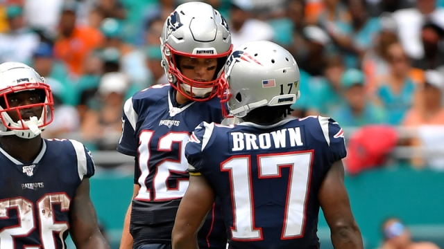 Tampa Bay Buccaneers Quarterback Tom Brady And Free Agent Wide Receiver Antonio Brown