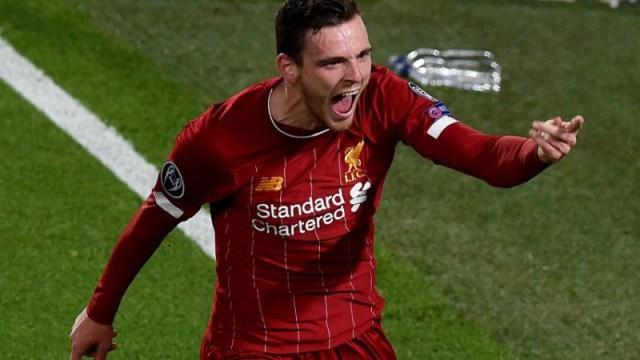 Liverpool defender Andy Robertson