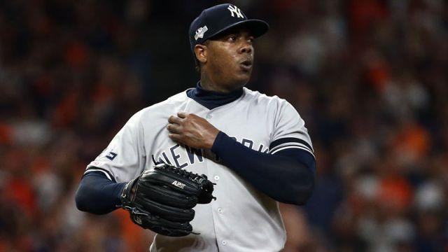 New York Yankees closer Arolids Chapman