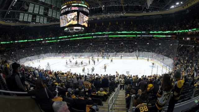 Boston Bruins fans at TD Garden