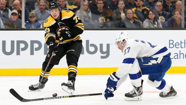 Boston Bruins left wing Jake DeBrusk