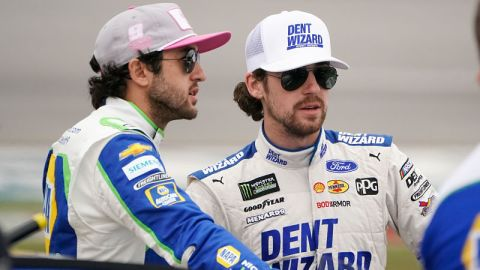 NASCAR drivers Ryan Blaney and Chase Elliott
