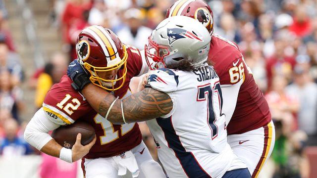 Washington Redskins quarterback Colt McCoy and New England Patriots defensive tackle Danny Shelton