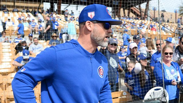 Chicago Cubs manager David Ross