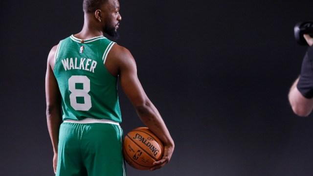 Boston Celtics point guard Kemba Walker (8)