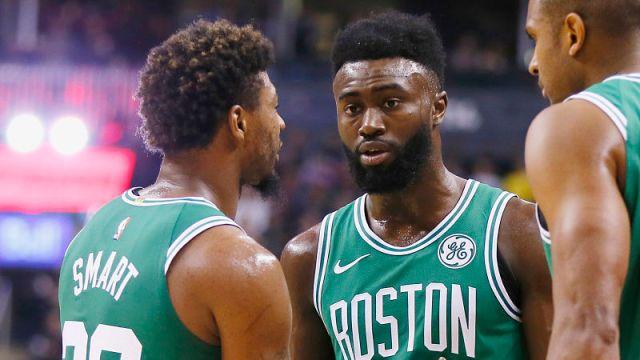 Boston Celtics Marcus Smart, Jaylen Brown