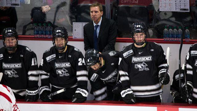 Providence Hockey head coach Nate Leaman