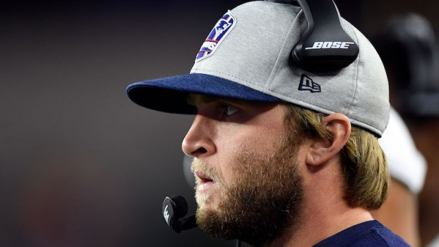 Patriots safeties coach Steve Belichick