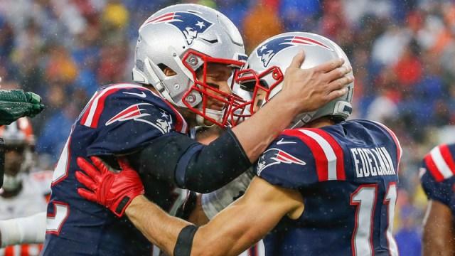 Free Agent Quarterback Tom Brady And New England Patriots Wide Receiver Julian Edelman
