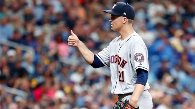 Houston Astros Starting Pitcher Zack Greinke