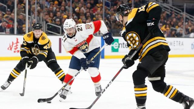 Boston Bruins' Danton Heinen