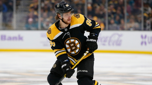Boston Bruins' David Pastrnak