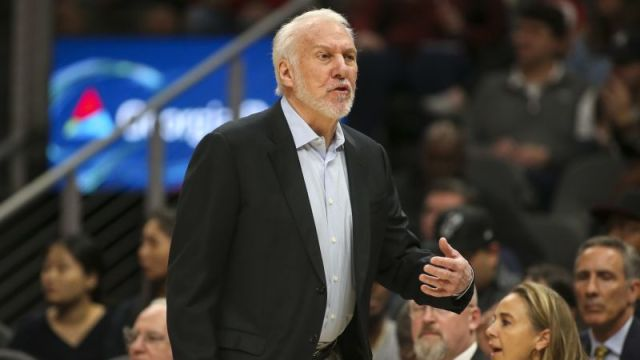 San Antonio Spurs head coach Gregg Popovich