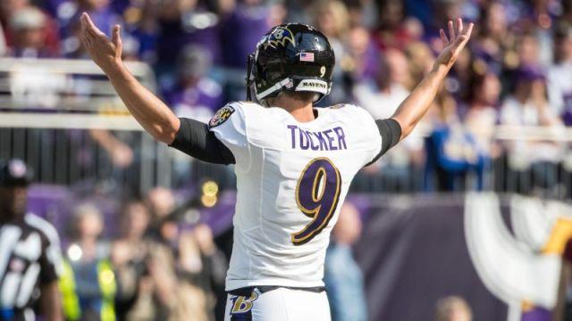 Baltimore Ravens kicker Justin Tucker