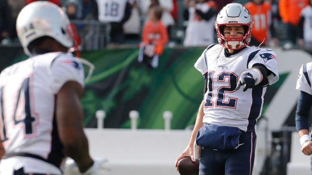 New England Patriots wide receiver Mohamed Sanu and former quarterback Tom Brady