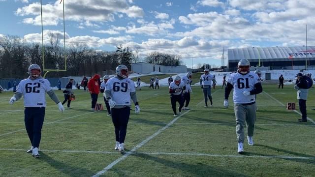 Patriots offensive line