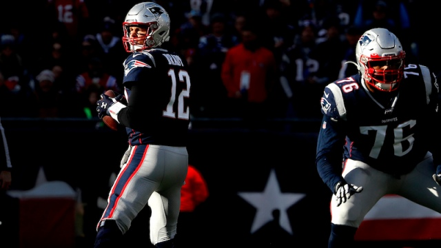 Patriots quarterback Tom Brady, left tackle Isaiah Wynn
