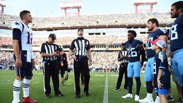 New England Patriots quarterback Tom Brady and Tennessee Titans cornerback Logan Ryan