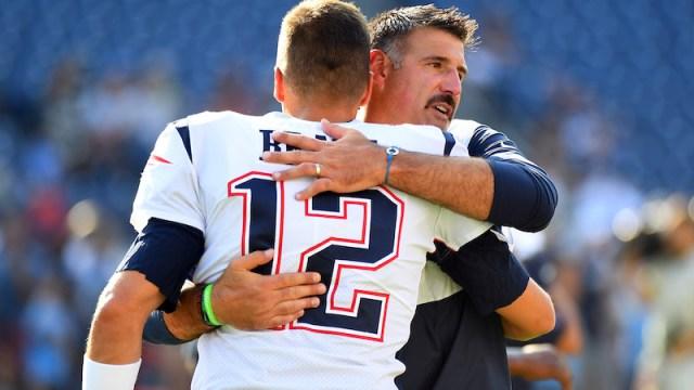 Patriots quarterback Tom Brady, Titans head coach Mike Vrabel