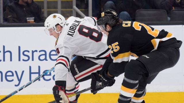 Boston Bruins' Brandon Carlo