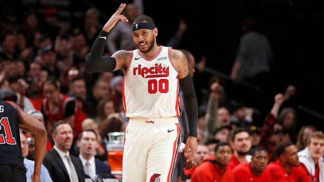 Portland Trail Blazers power forward Carmelo Anthony