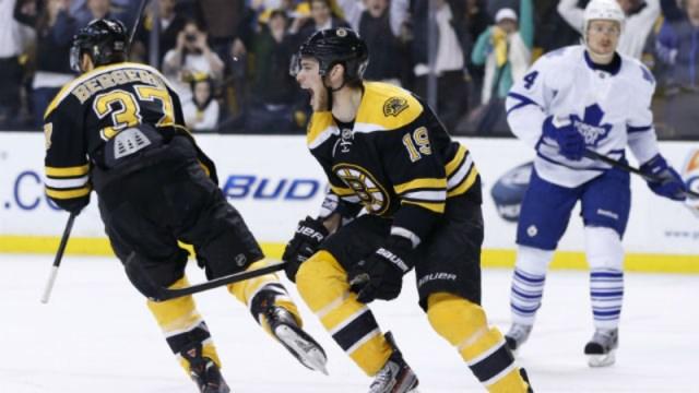 Bruins forwards Patrice Bergeron, Tyler Seguin