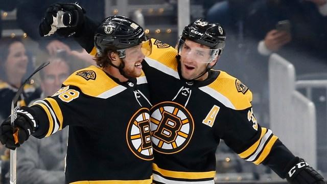 Boston Bruins' Patrice Bergeron & David Pastrnak