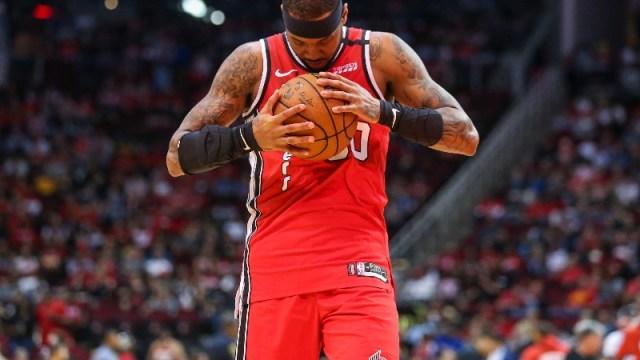 Portland Trail Blazers forward Carmelo Anthony
