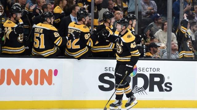 Former Boston Bruins right wing David Backes (42)