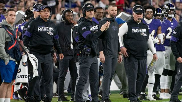 Baltimore Ravens head coach John Harbaugh