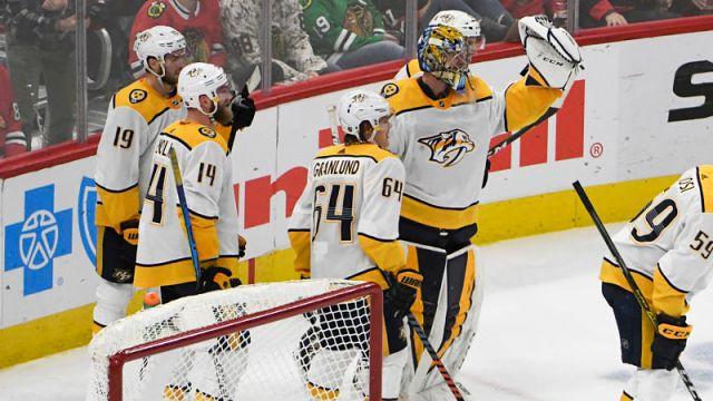 Nashville Predators goalie Pekka Rinne