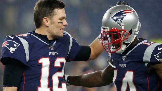 Patriots quarterback Tom Brady, wide receiver Mohamed Sanu