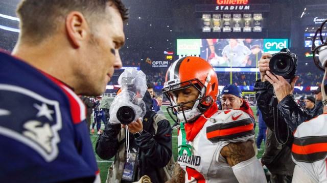 Patriots quarterback Tom Brady, Browns wide receiver Odell Beckham
