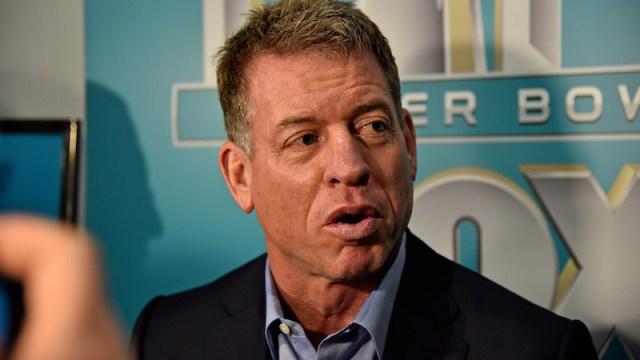 Fox Sports broadcaster Troy Aikman
