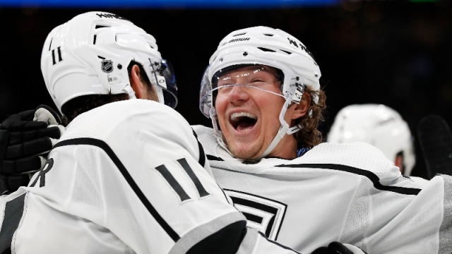 Los Angeles Kings right wing Tyler Toffoli (73) and center Anze Kopitar (11)