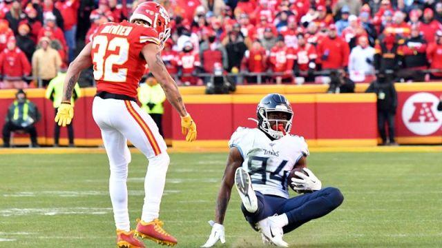 Kansas City Chiefs safety Tyrann Mathieu and Tennessee Titans wide receiver Corey Davis