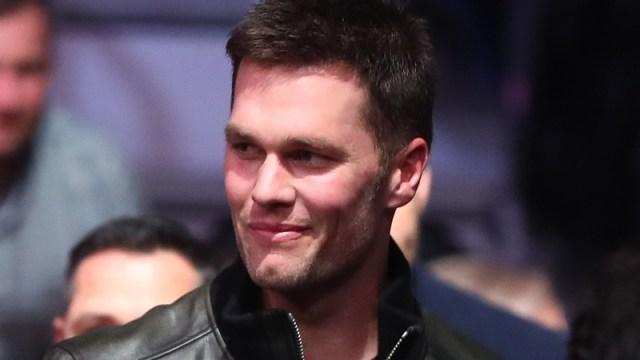 Tom Brady at McGregor fight