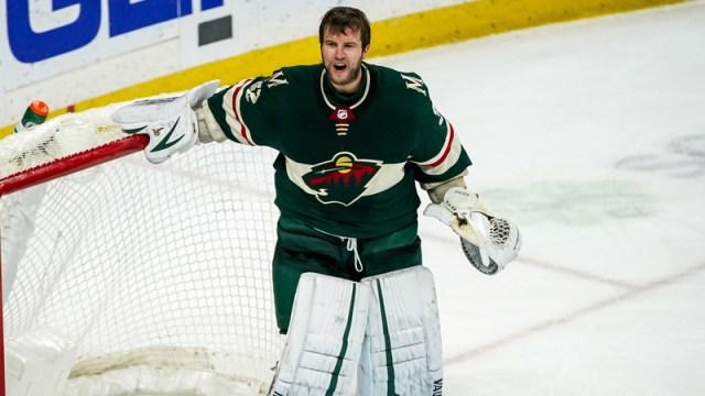 Minnesota Wild goaltender Alex Stalock