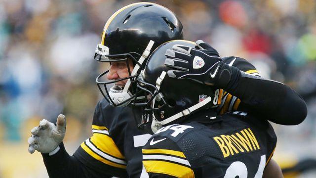 Pittsburgh Steelers quarterback Ben Roethlisberger and NFL wide receiver Antonio Brown