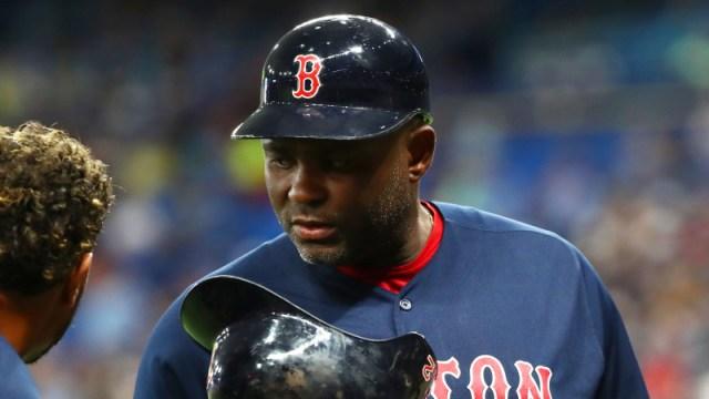 Boston Red Sox third base coach Carlos Febles