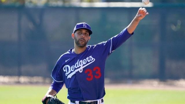 Los Angeles Dodgers pitcher David Price (33)