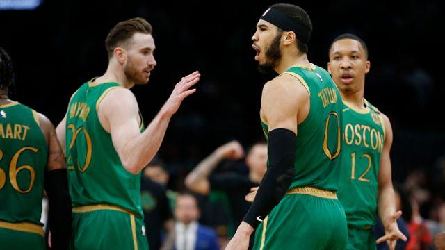 Boston Celtics forwards Gordon Hayward and Jayson Tatum