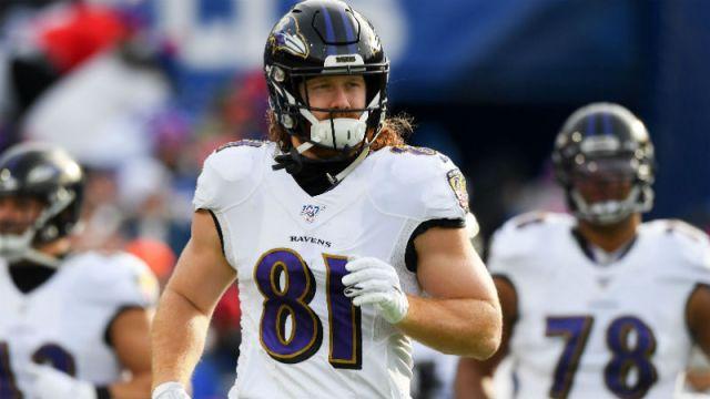 Baltimore Ravens tight end Hayden Hurst