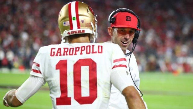 49ers Quarterback Jimmy Garoppolo, Kyle Shanahan San Francisco 49ers