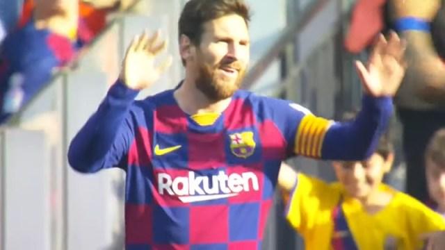 FC Barcelona forward Lionel Messi