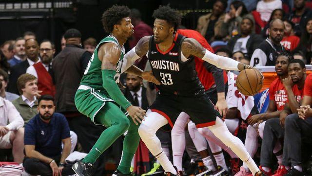 Boston Celtics guard Marcus Smart and Houston Rockets forward Robert Covington