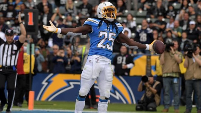 Los Angeles Chargers running back Melvin Gordon