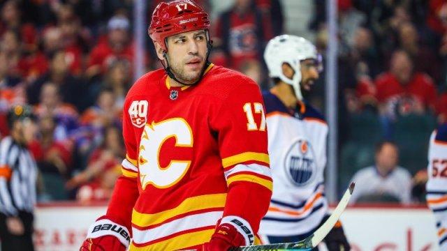 Calgary Flames Forward Milan Lucic