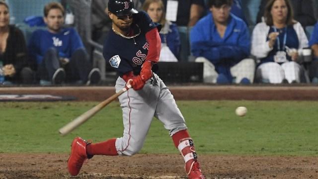 Boston Red Sox right fielder Mookie Betts